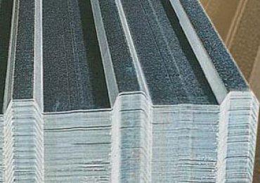 Galvanisierte Trapez Platte