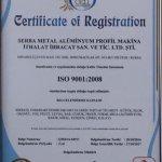 ISO 9001 :2008 Belgesi aldık